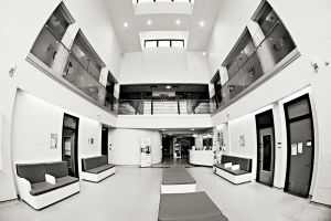 Commercial Photography showing the entrance hall of Braintree Community Hospital