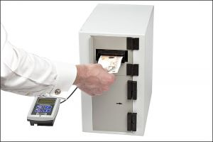 Photograph of a security cash machine